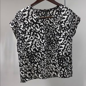 Animal print women's blouse